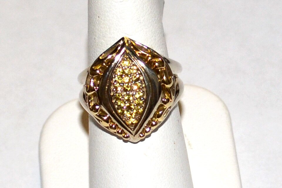 Sterling 18k Yellow Sapphire Ring, Gabrielle Bruni