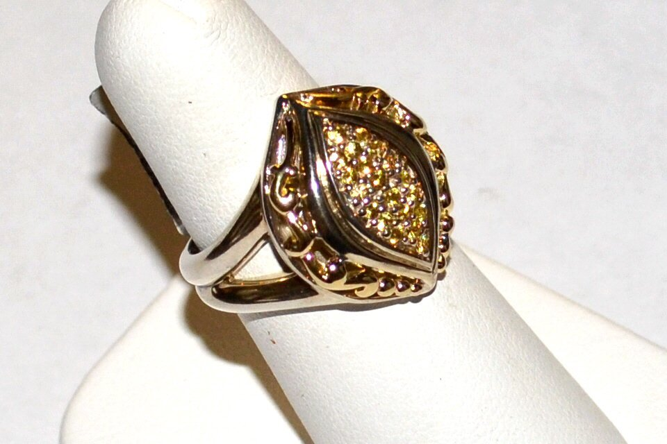 Sterling 18k Yellow Sapphire Ring, Gabrielle Bruni - 2