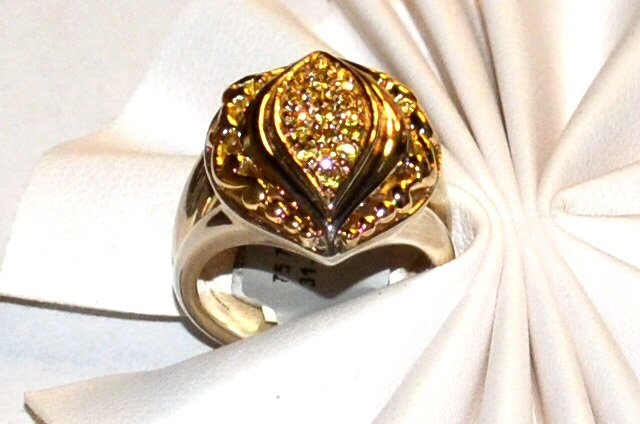 Sterling 18k Yellow Sapphire Ring, Gabrielle Bruni - 3