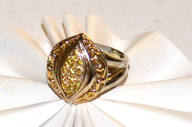 Sterling 18k Yellow Sapphire Ring, Gabrielle Bruni - 4
