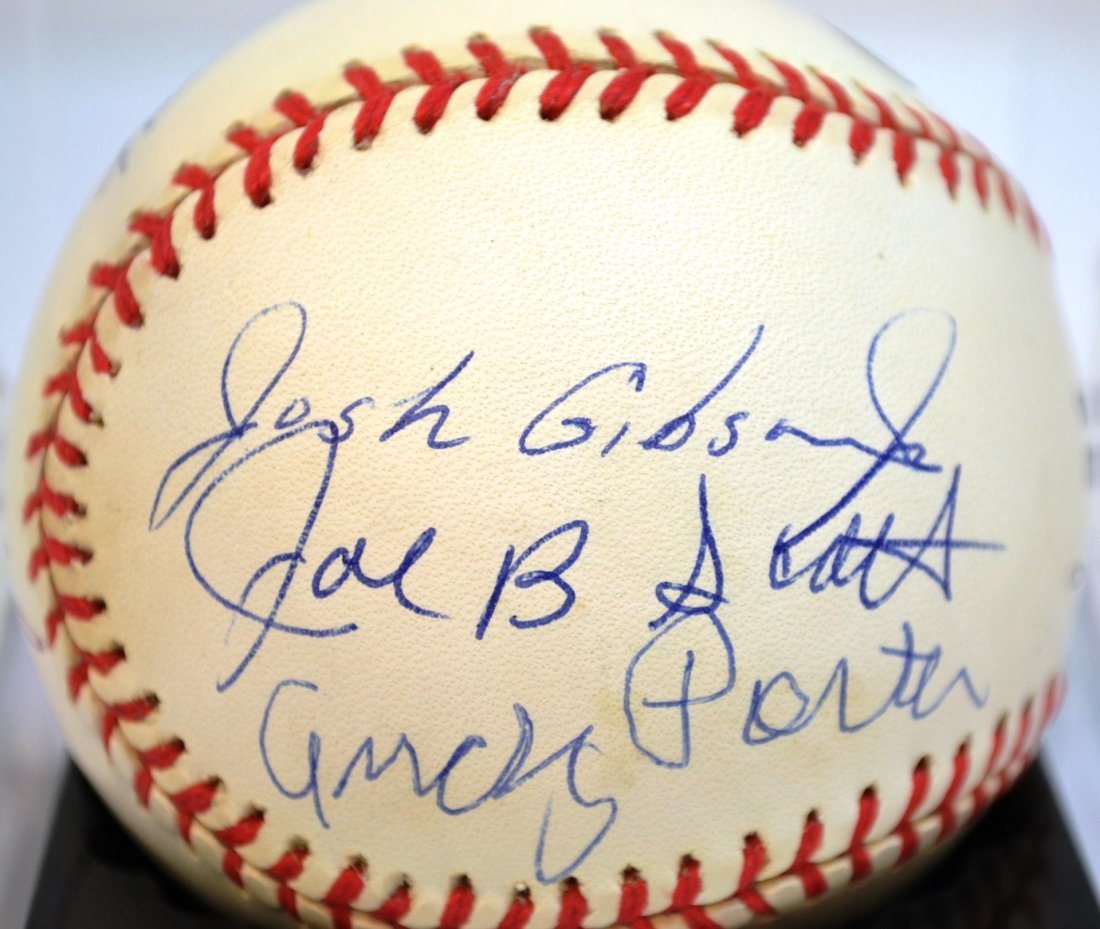 Negro league Josh Gibson Jr. autograph
