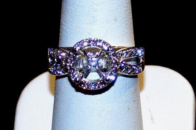 14kwg Diamond Engagement Remount Ring .85ctw