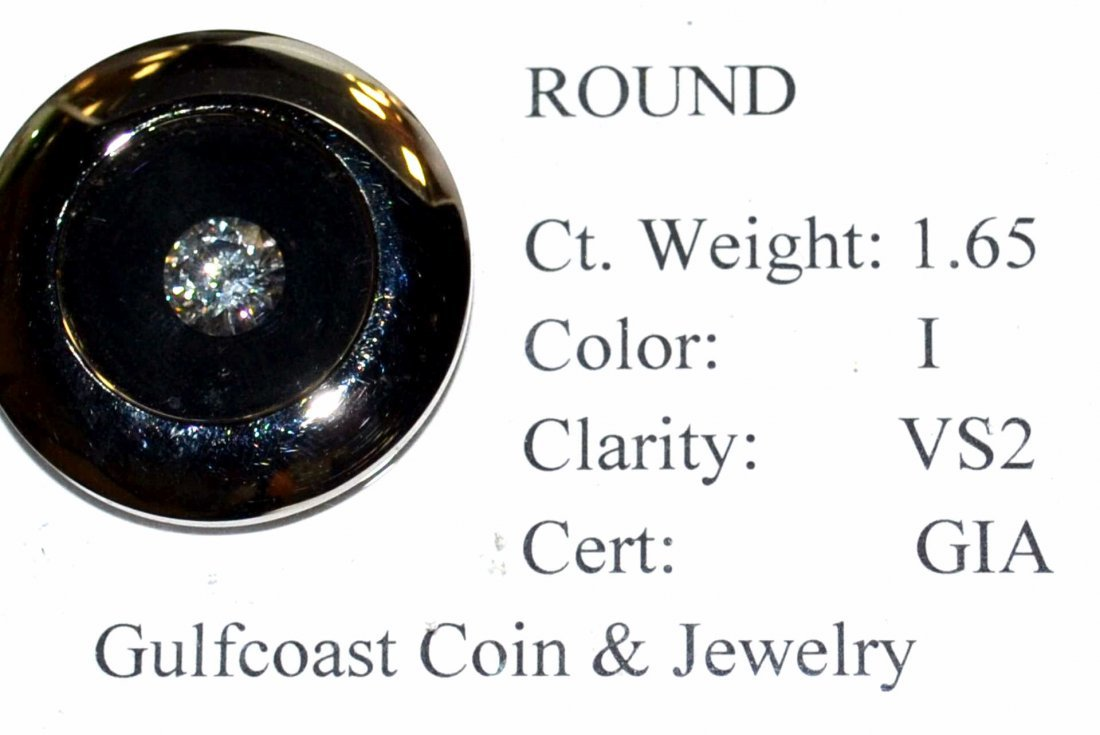 Loose 1.65ct RBC Diamond I/VS2 GIA