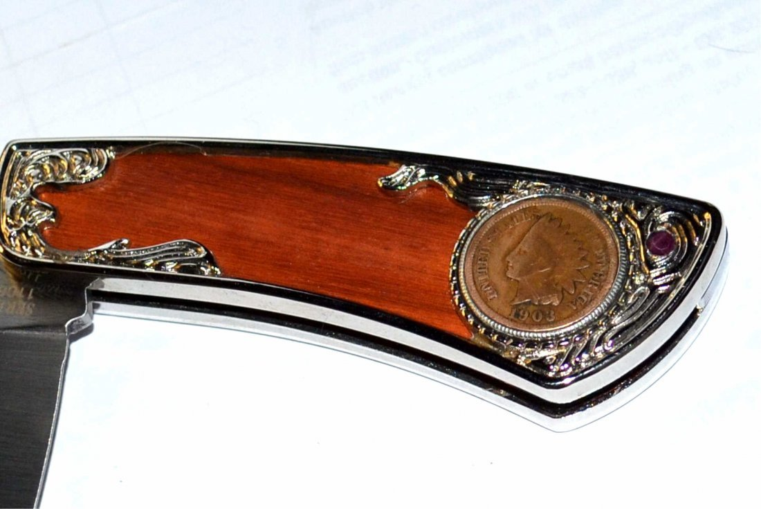 1903 Indian Head Penny Pocket Knife - 3