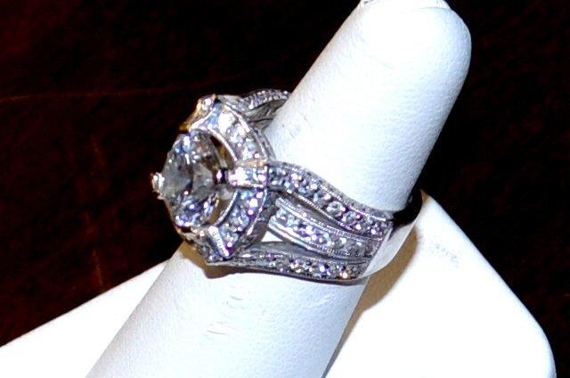 14kwg Diamond Ring 3.67ct Round D/SI2 EGL