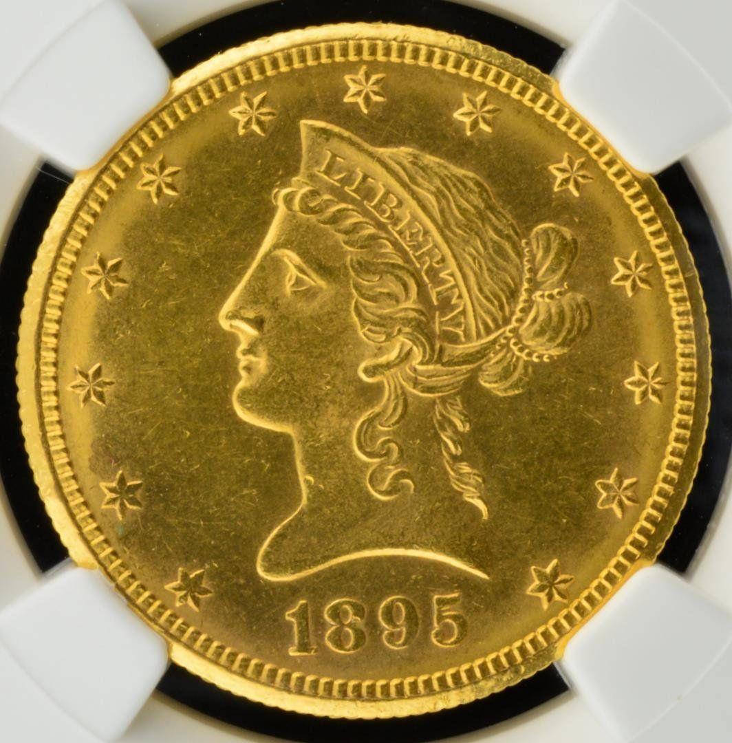 1895 O $10 Liberty Head Gold Eagle NGC MS 61
