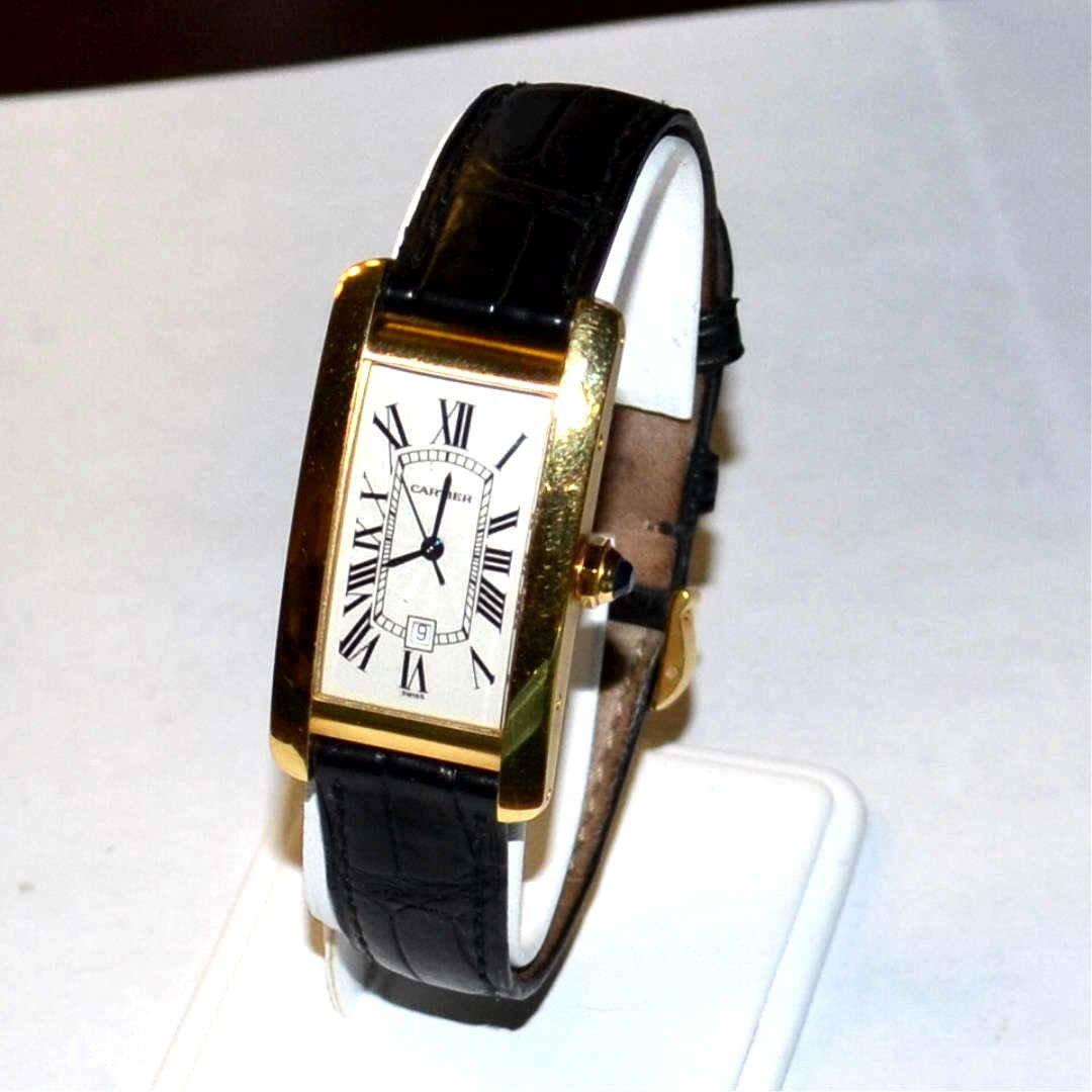 Man's 18kyg Cartier Americaine Watch