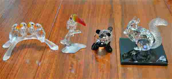 Four Swarovski Crystal Figurines