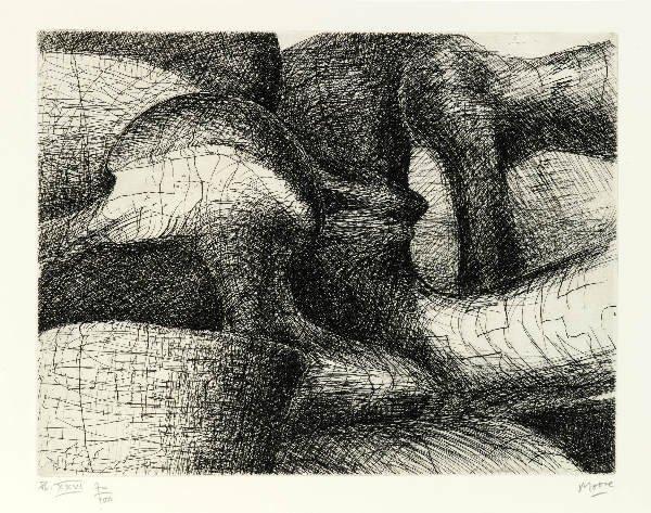 339: MOORE (Henri). Elephant skull. Genève, Gérald Cram