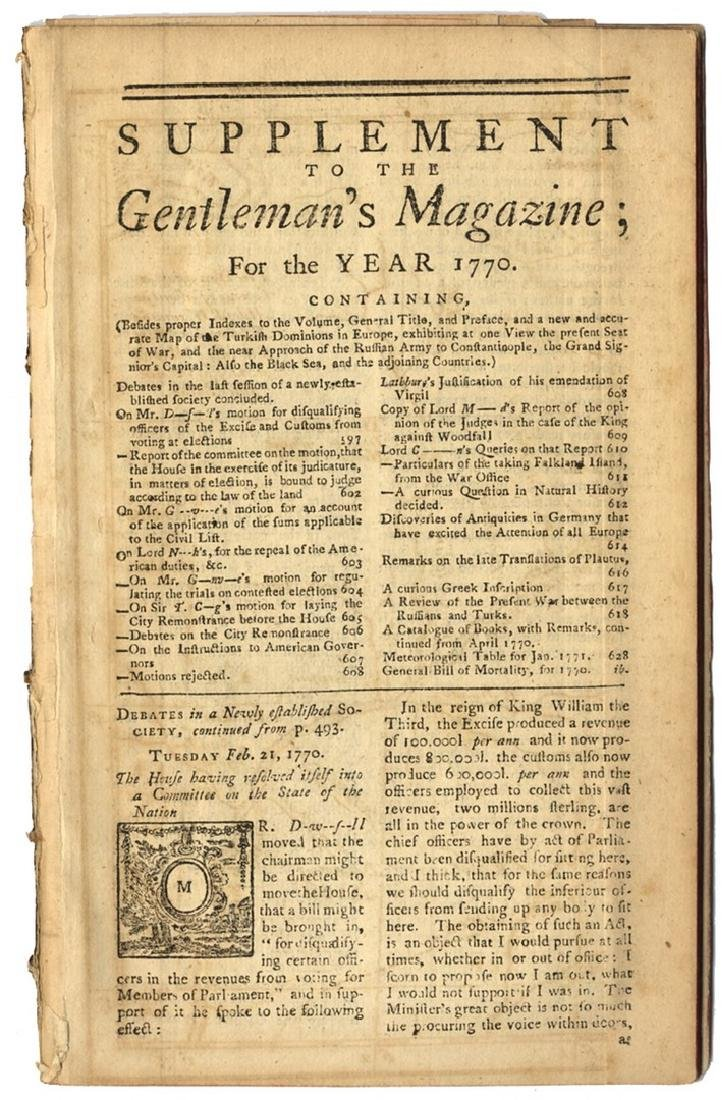 Three Maps - 1770