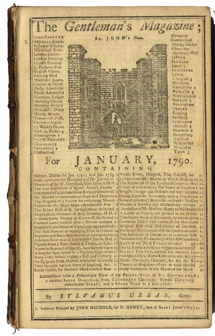 Gentleman's Magazine - Christian  Illustrations - 1790