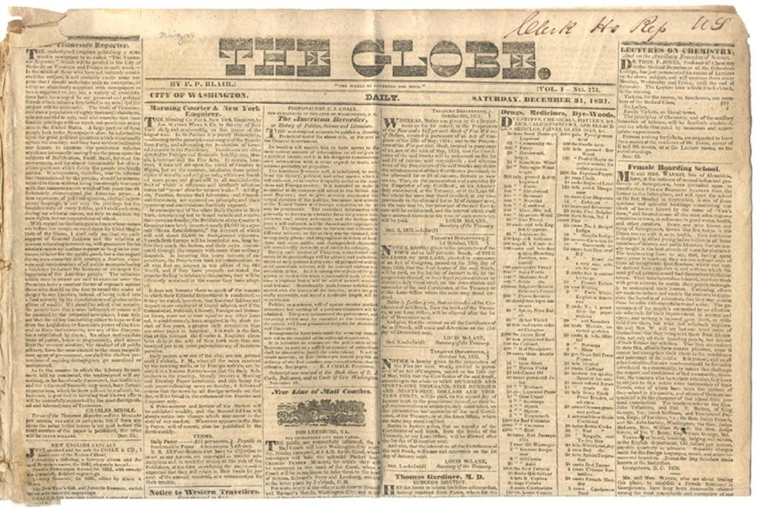 Early Washington DC Newspaper group