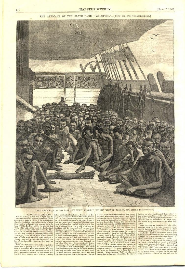 The Most Dramatic American Slave Ship Image in Harpers
