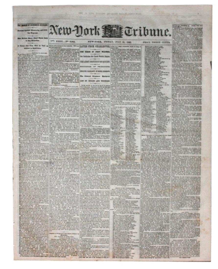 The New York Tribune Warns The North Not To Use Black
