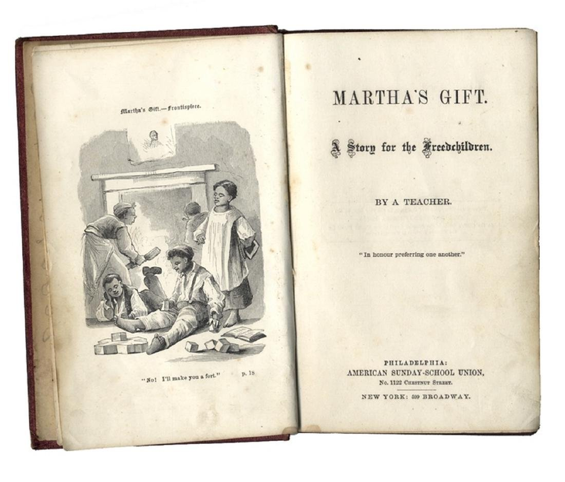 Reading Books For The Freed Children - 1868