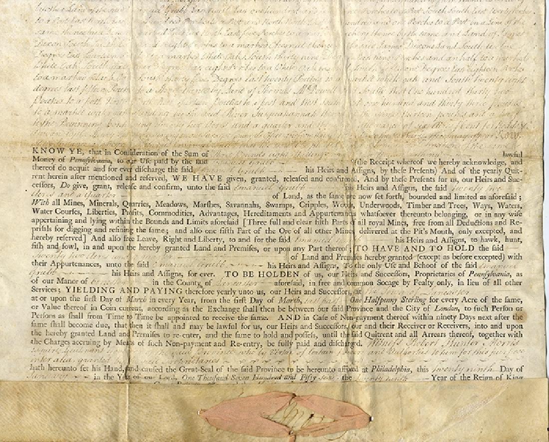 Governor Robert H. Morris of Pennsylvania Signed