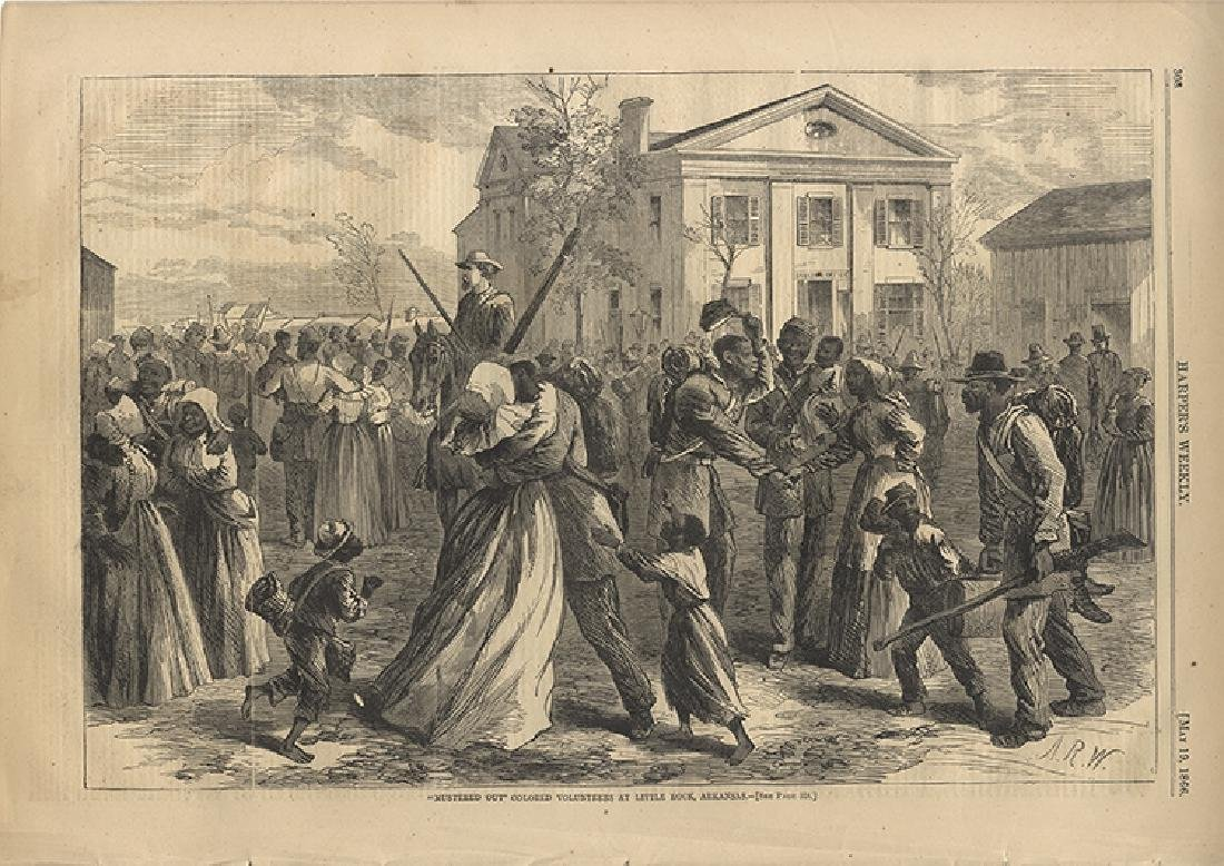 The Uniformed Colored Troops Are Mustered Out