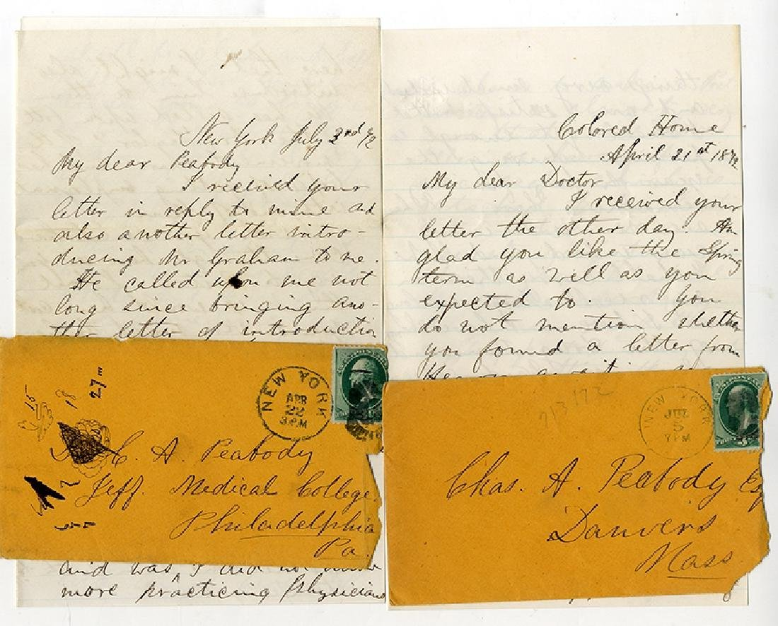 Letters From THE COLORED HOME and HOSPITAL of New York