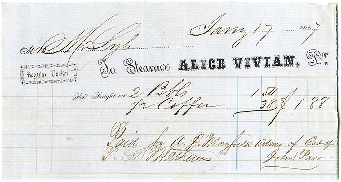 Document From A Alabama Blockade Runner