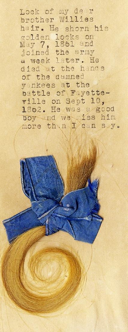 Lock of Hair of KIA Confederate Soldier