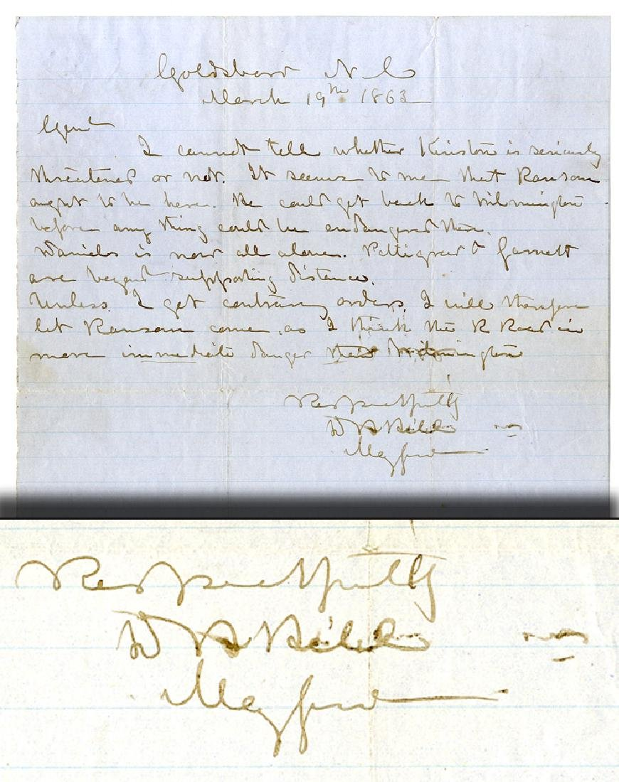 Major General D.H. Hill Writes to Major General James