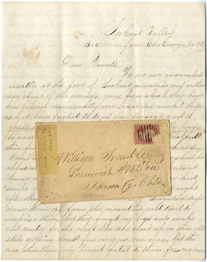7th Ohio Volunteer Infantry Letter - Battle Action at