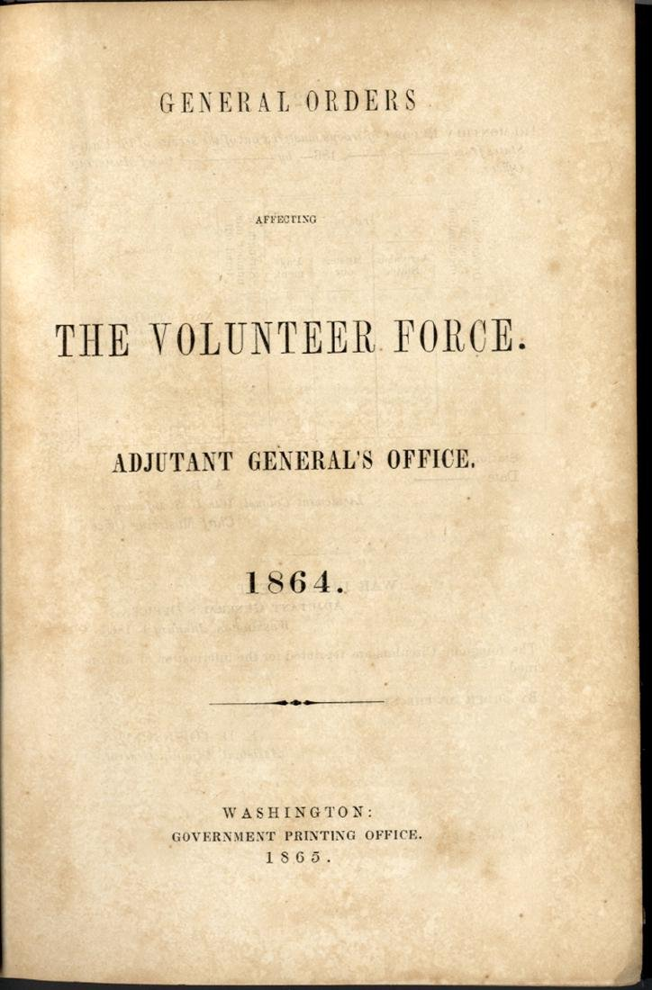 Bound Volume of 1864 General Orders