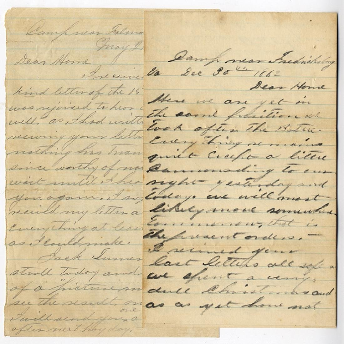 49th New York Infantry - Two Letters from Medal of