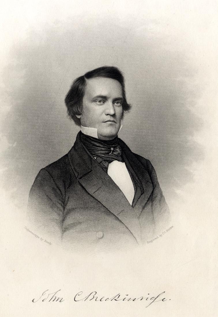 Engraving of John C. Breckinridge