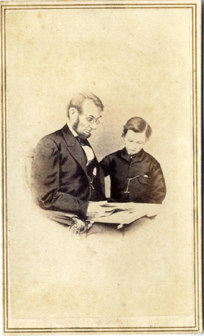 President Lincoln and Tad