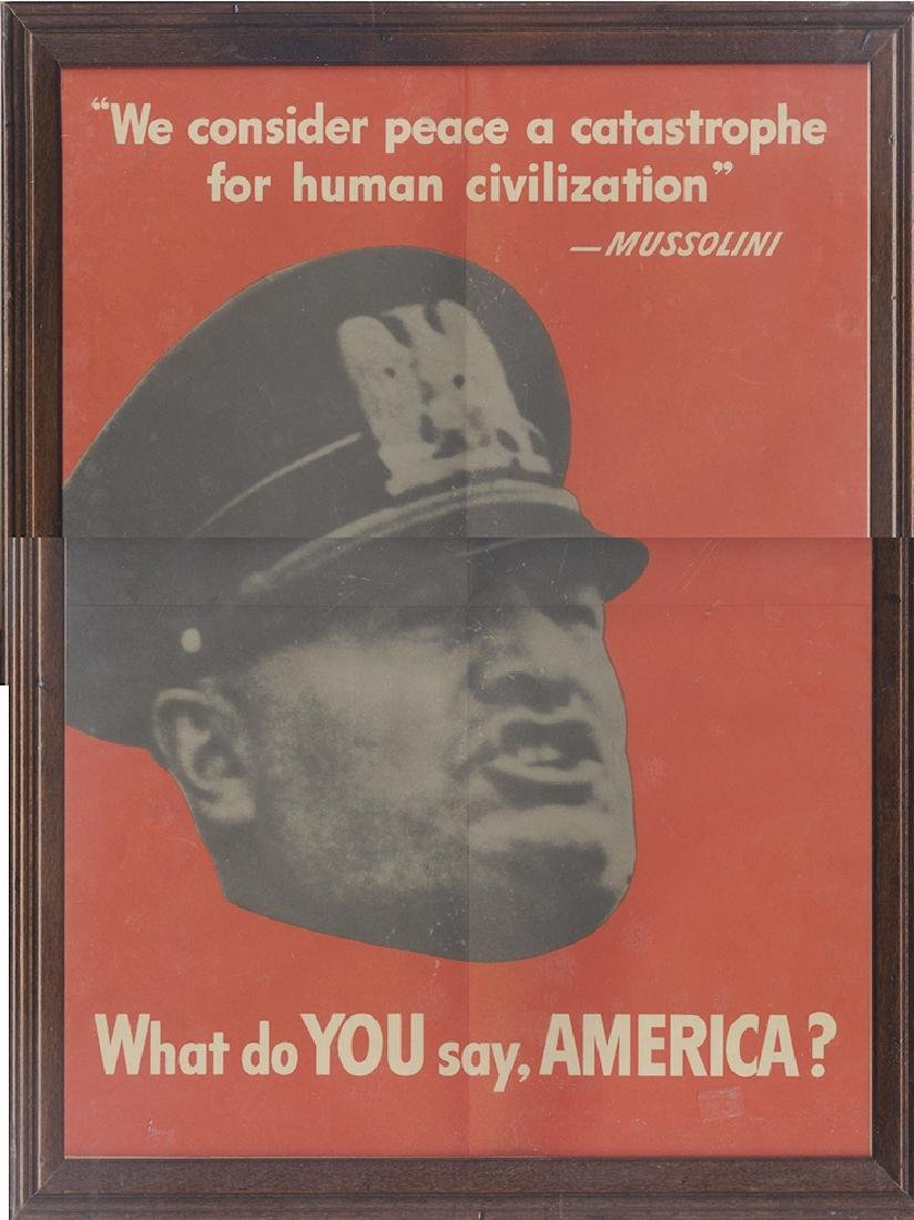 "Mussolini ""What do you say America?"""