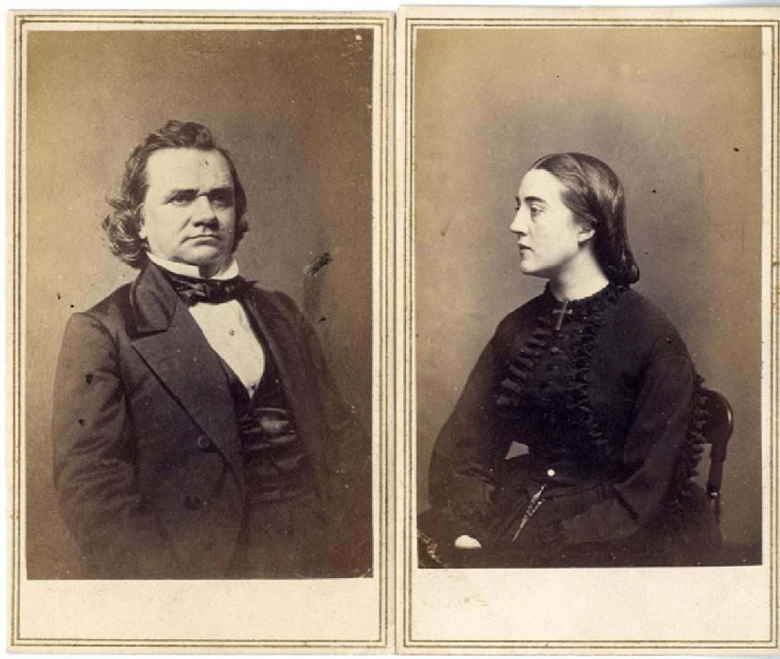 Photographs of Mr. & Mrs. Stephen A. Douglas