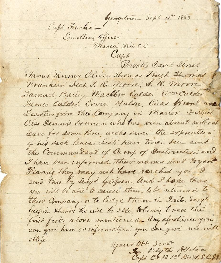 Letter Names CSA Deserters