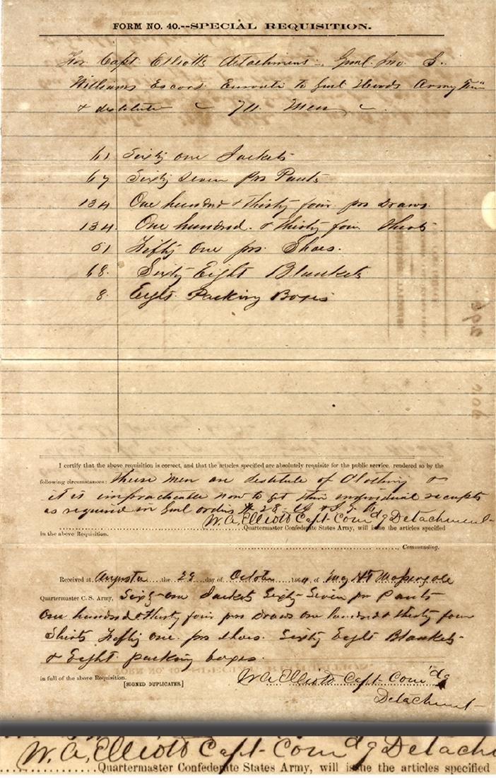 """1864 - Augusta -  """"These men are destitute of"""