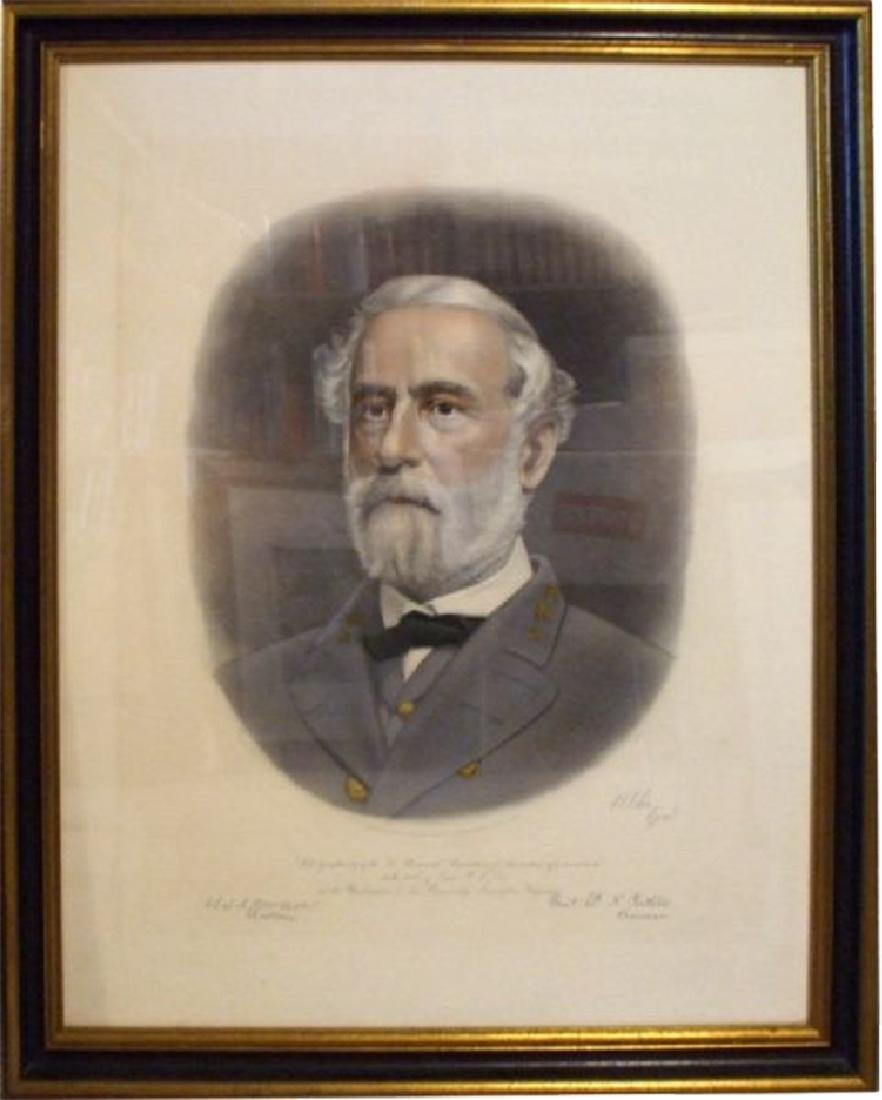 Two Fine Colored Engravings of Generals Robert E. Lee - 3