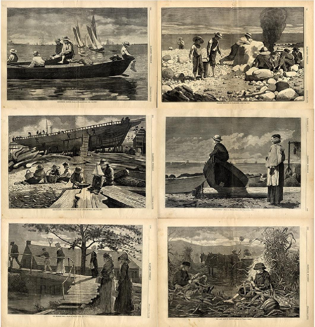 Artwork by Winslow Homer from Harper's Weekly issues of