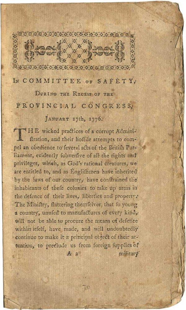 002: Scarce Revolutionary Pamphlet, Published on Order