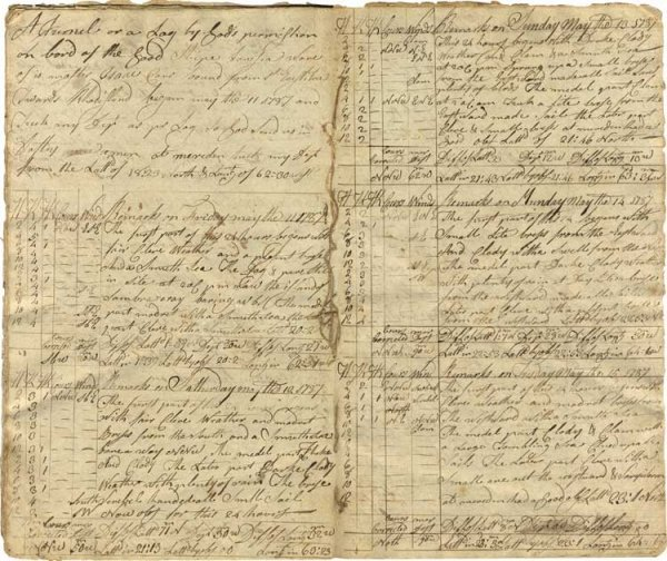 010: A Ship's Log for Slave Vessels out of Newport, Rho