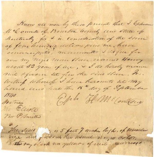 022: 1840 Slave Manumission