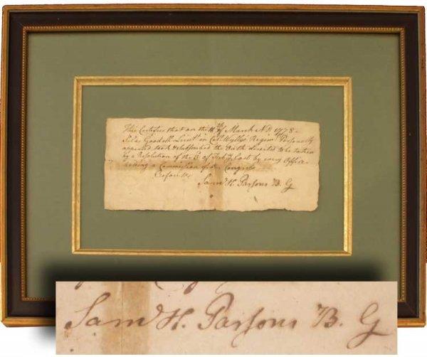004: General Samuel Parsons Signed War-Date Oath