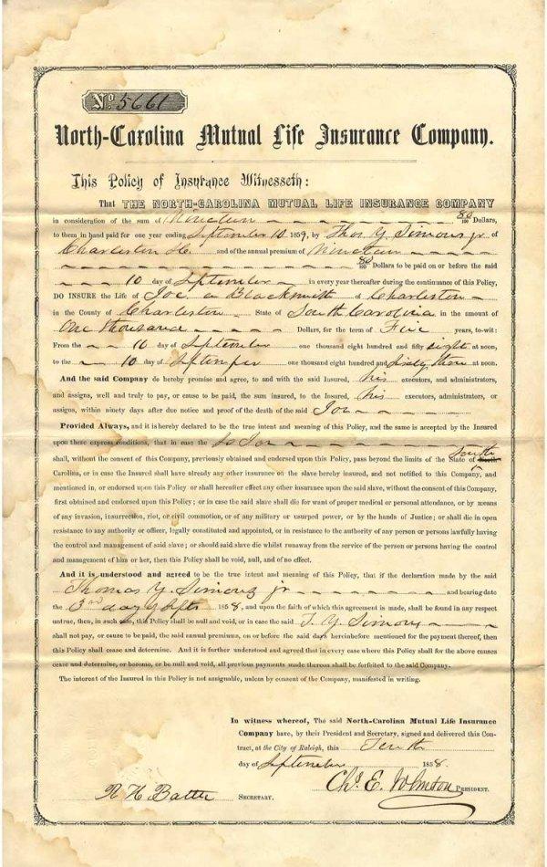 021: The North Carolina Mutual Life Insurance Company I