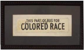 039: An Extraordinary Authentic Segregation Sign