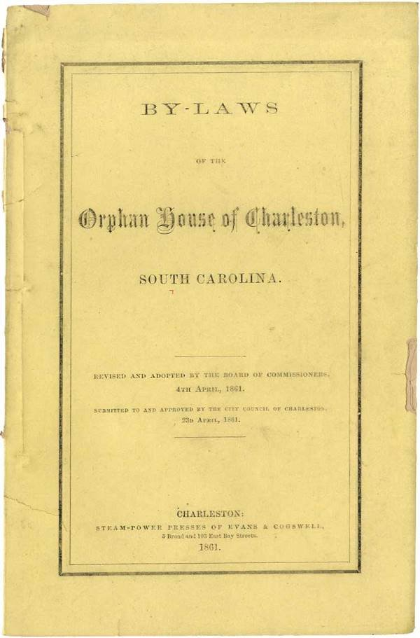 10: By-Laws of the Charleston Orphan House