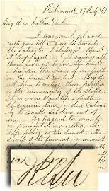 22: Just Before 1st Manassas Robert E. Lee Writes his B