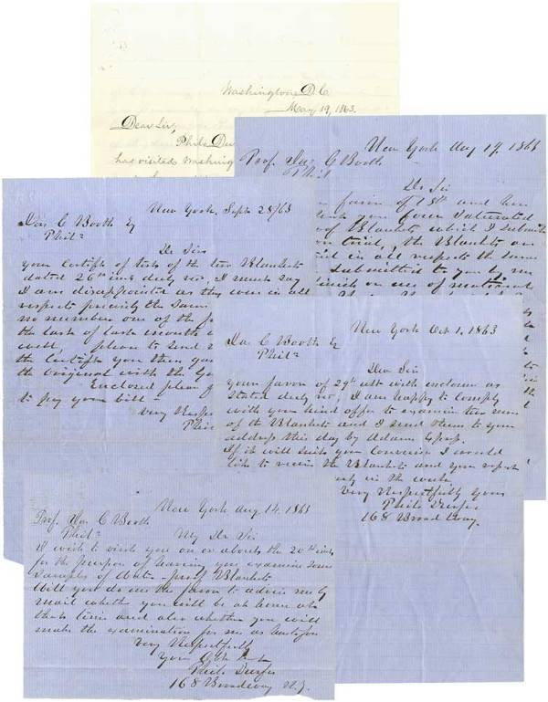 359: UNION ARMY CONTRACTOR LETTER GROUPING