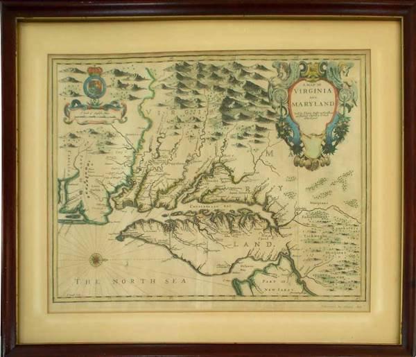 515: John Speeds map of Virginia and Maryland