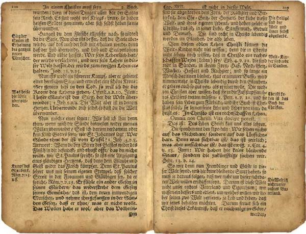 519: Ben Franklin Printed Bible Leaves