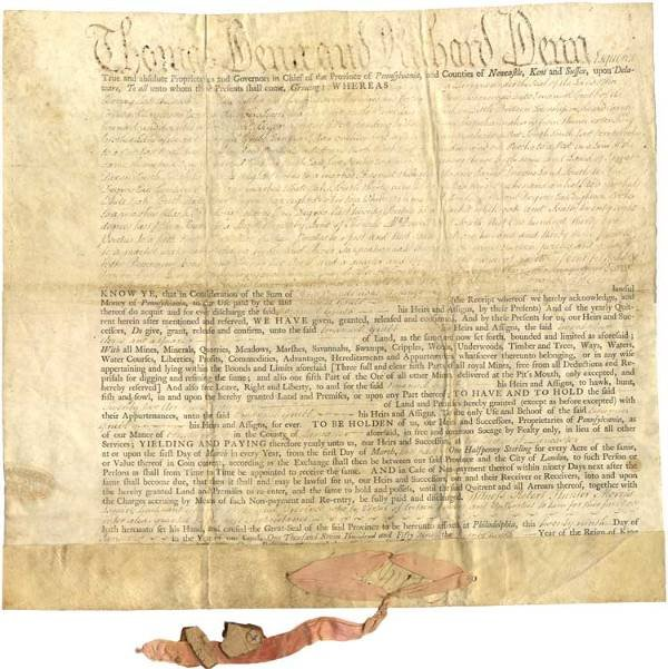 520: Governor Robert H. Morris of Pennsylvania Signed D