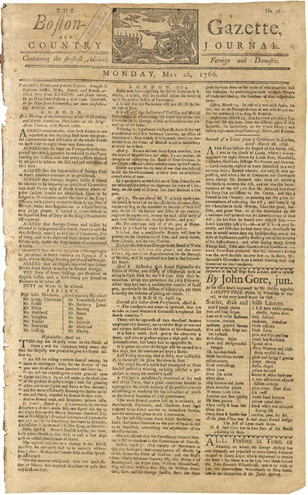 522: Repeal the Stamp Act