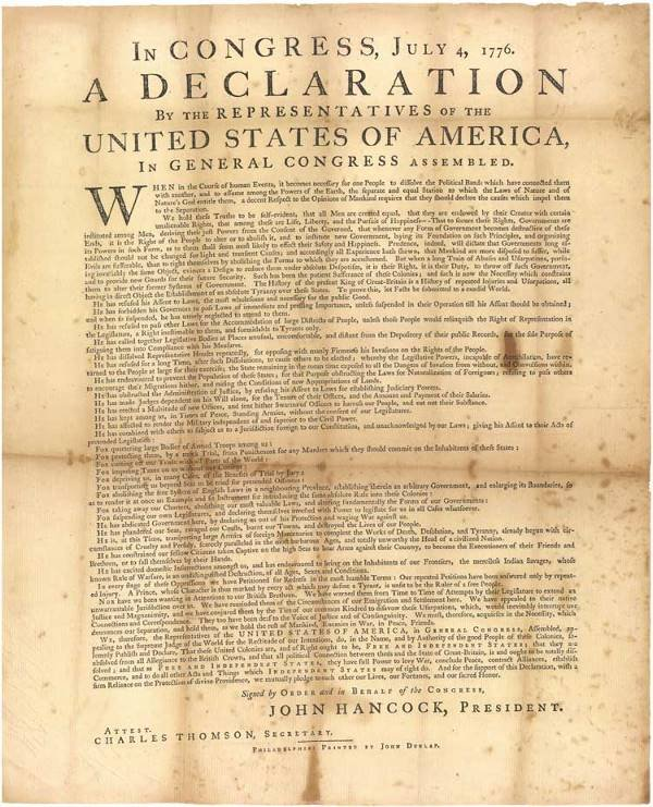 523: The Dunlap Broadside - First Printing of the Decla